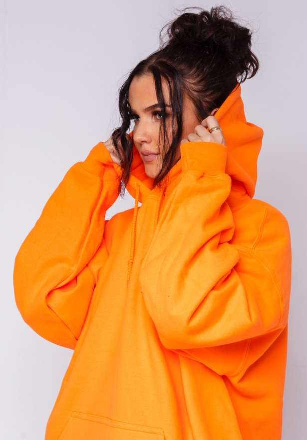 Mercedes B Hoodie In Orange