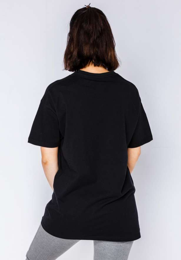 Taken White Logo Tee In Black