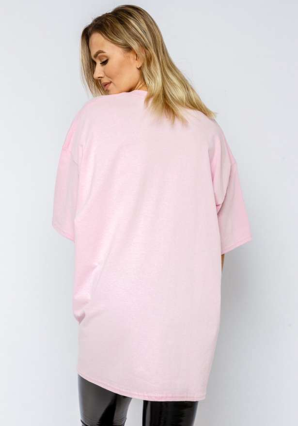 Coca Cola Oversized Tee In Pink
