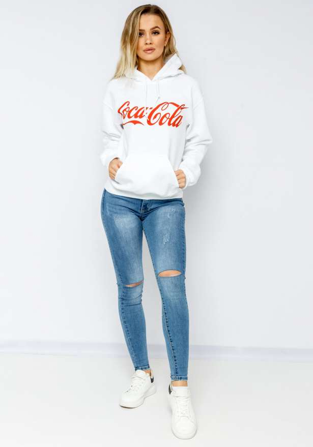 Coca Cola Hoodie In White