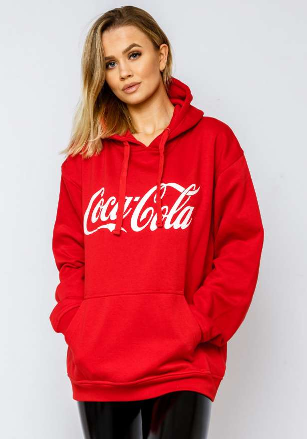 Coca Cola Oversized Hoodie In Red