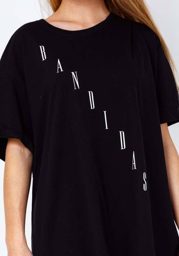 Bandidas Diagonal T-shirt In Black
