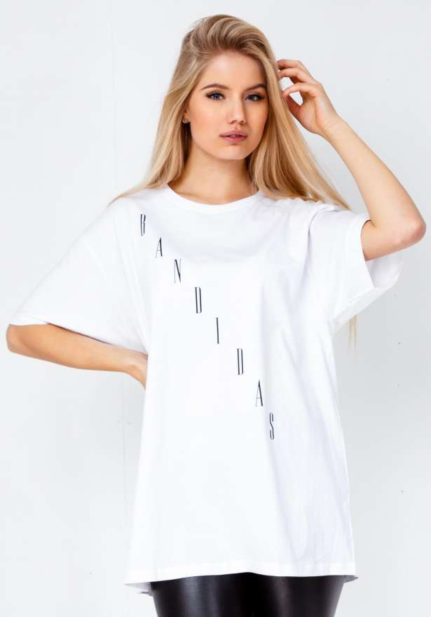Bandidas Diagonal T-shirt In White
