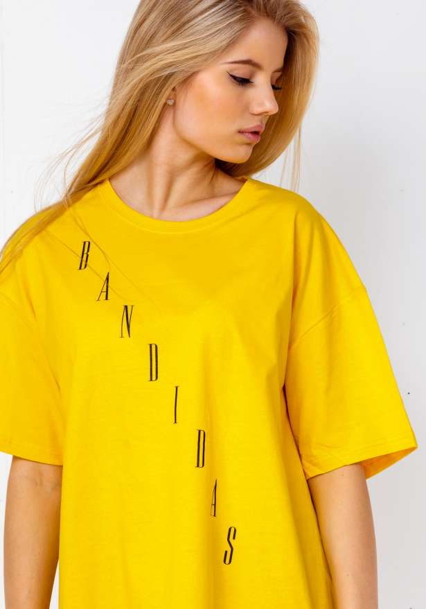 Bandidas Diagonal T-shirt In Yellow