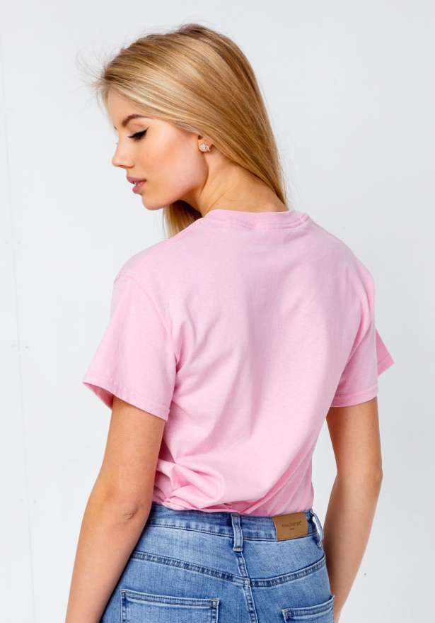 Bandidas Diagonal T-shirt In Baby Pink