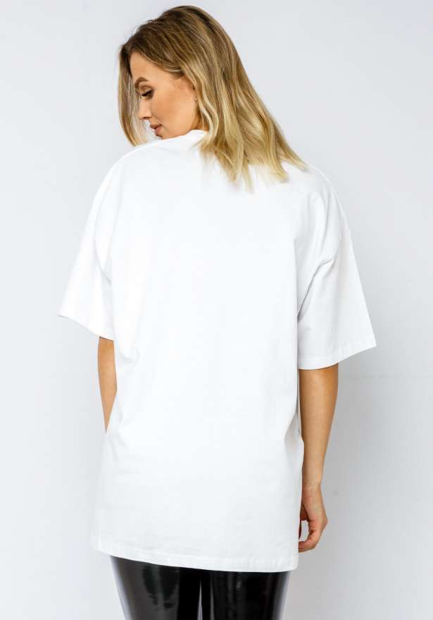 Malibu Coconut Oversize T-shirt In White