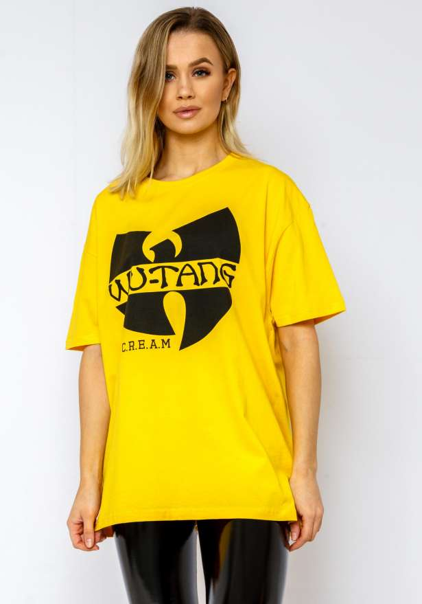 Wutang CREAM Oversize Tee In Yellow
