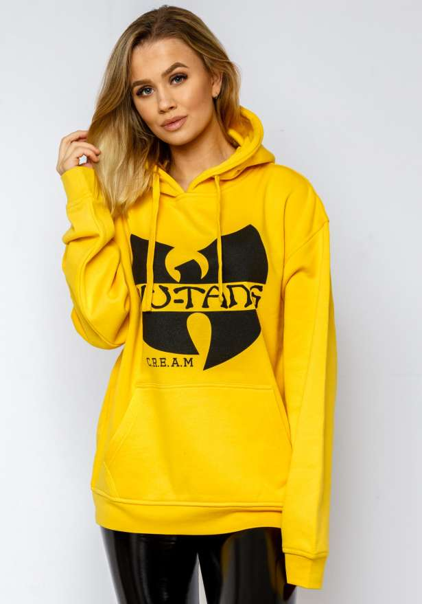 Wutang CREAM Oversize Hoodie In Yellow