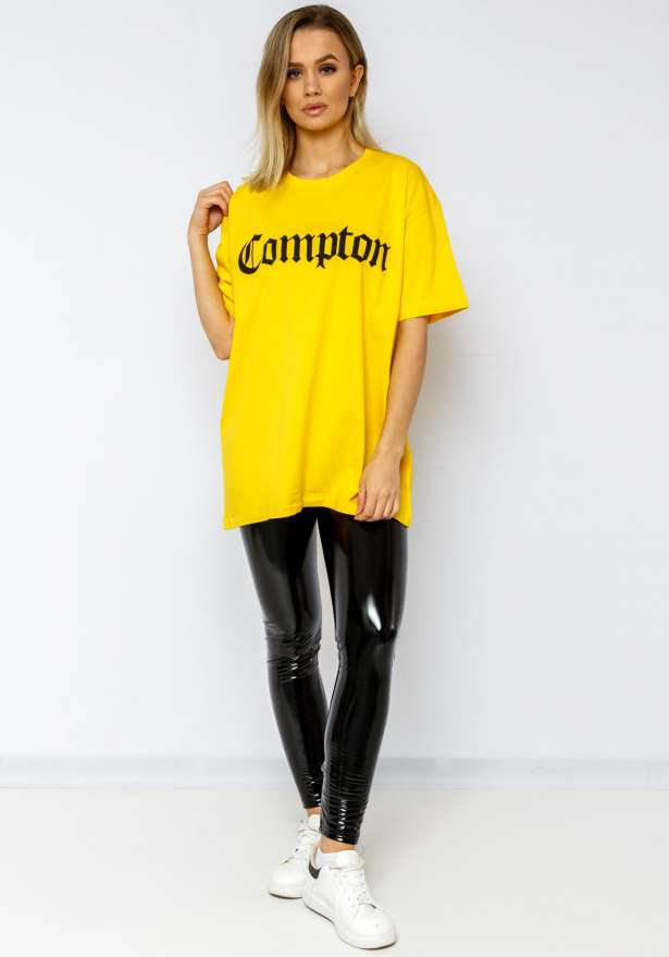 Compton Oversize Tee In Yellow