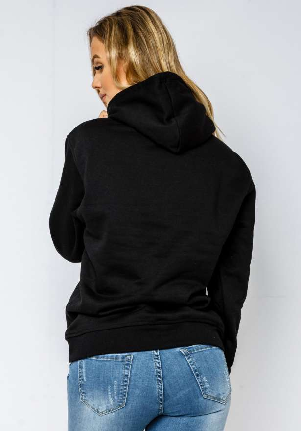 LA Rose Love Hoodie In Black