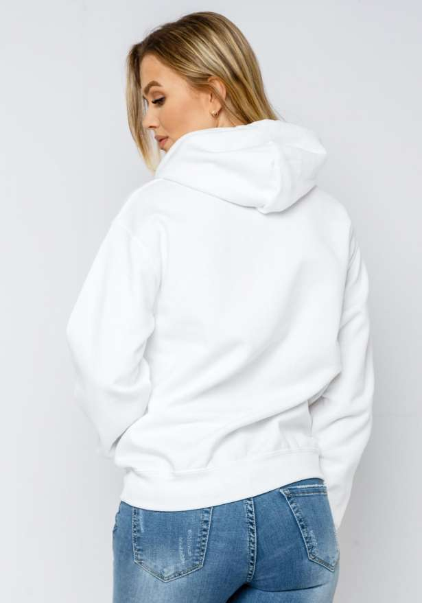 LA Rose Love Hoodie In White