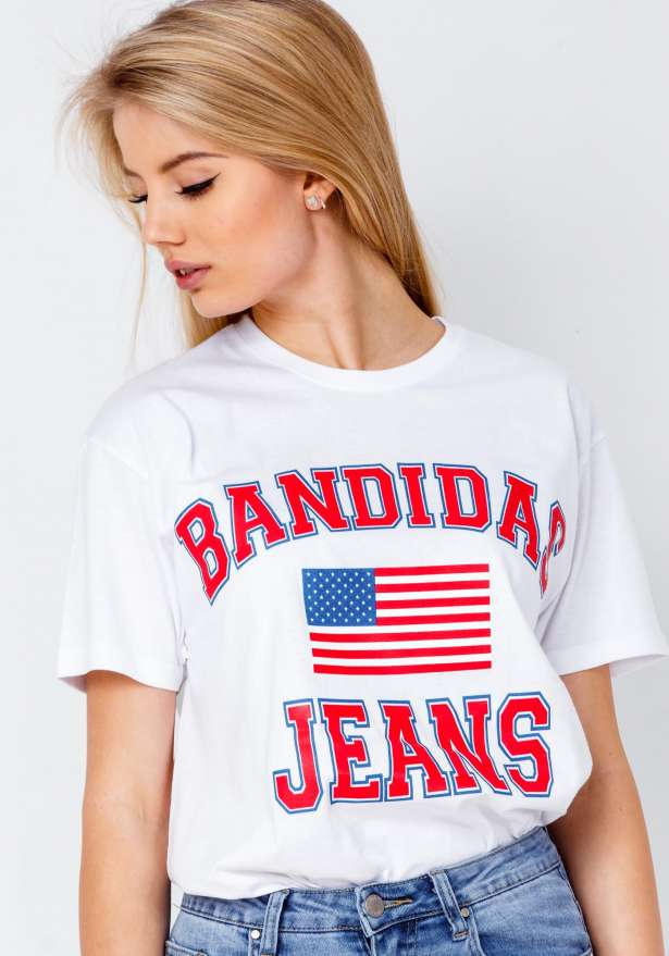 Bandidas Jeans T-shirt In White