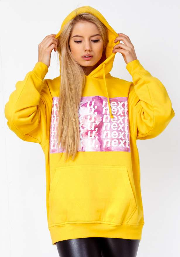 Thank U Next Oversize Hoodie In Yellow