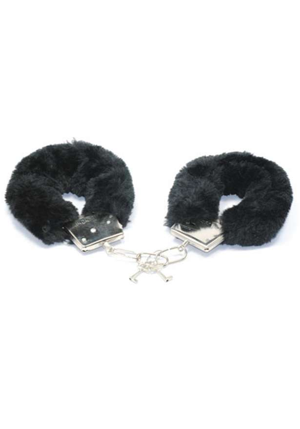 Playful Furry Handcuffs In Black