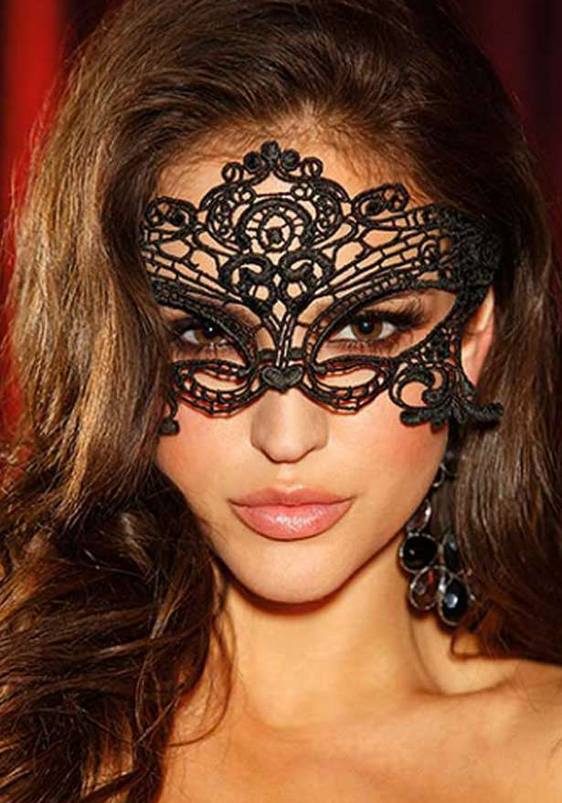 Mystery Lace Mask In Black