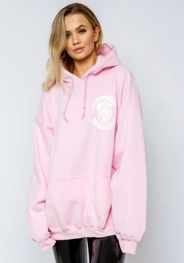 Sons Of Anarchy Hoodie In Babypink
