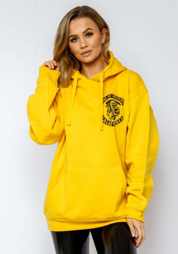 Sons Of Anarchy Hoodie In Yellow