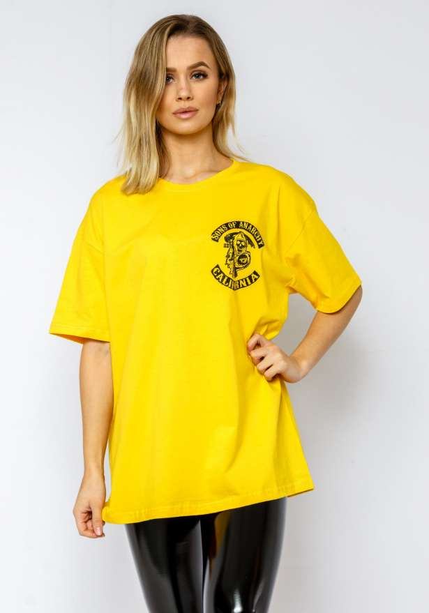 Sons Of Anarchy Boyfriend Tee In Yellow