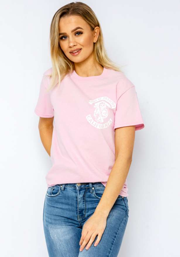 Sons Of Anarchy Bae T-shirt In Pink