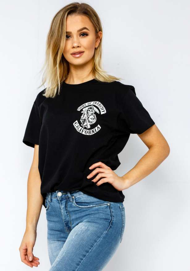 Sons Of Anarchy Bae T-Shirt In Black