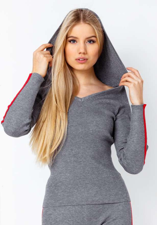 Fitness Vs Comfy Bod Hoodie In Grey