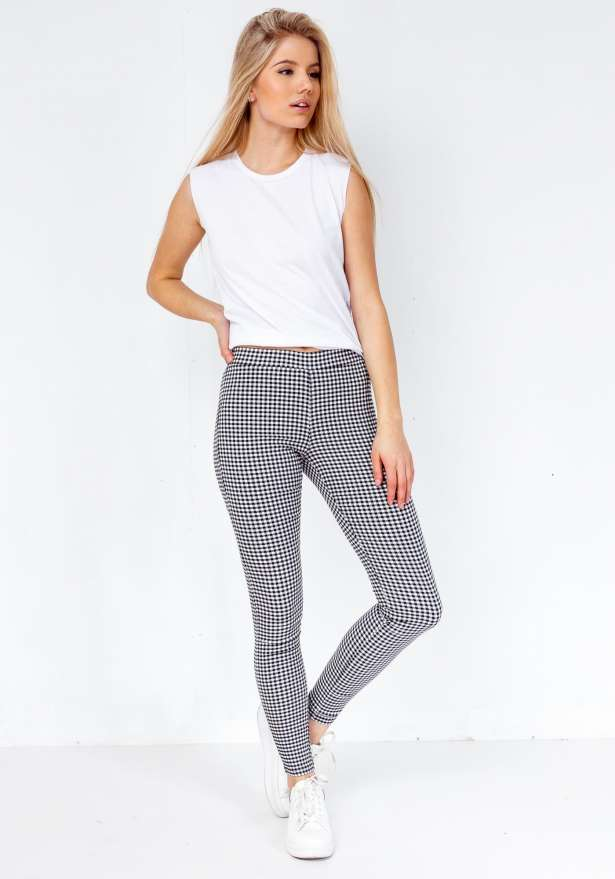 Checkered Big Plaid LeggingPants
