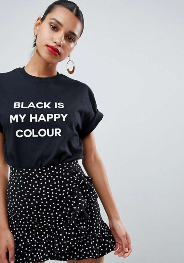 Black Is My Happy Color Boyfriend Tee