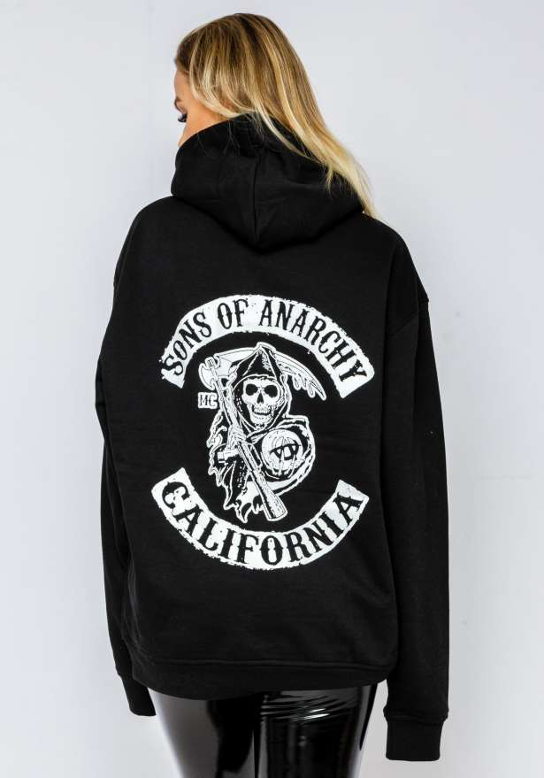 Sons Of Anarchy Hoodie In Black