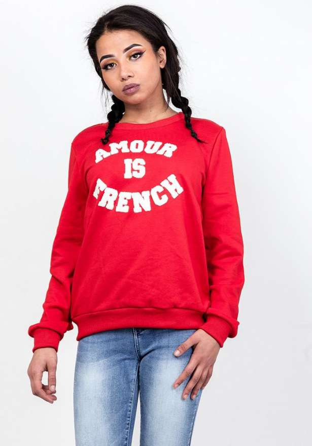 Amour Sweater In Red
