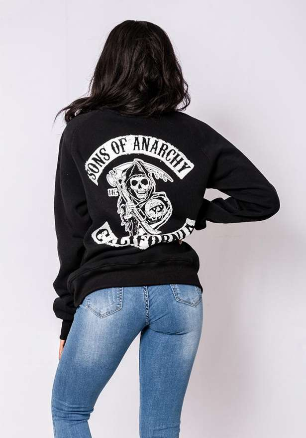 Sons Of Anarchy Sweater In Black
