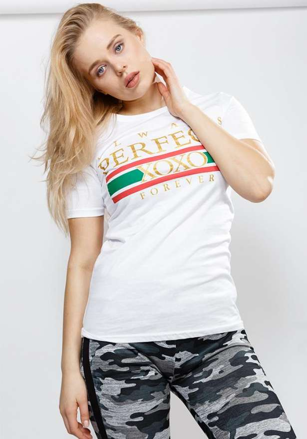 Xoxo Slogan Tee In White
