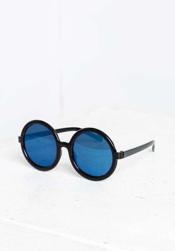 Blue Round Tortoise Sunglasses