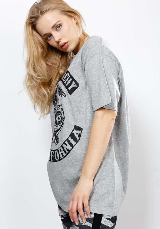 Sons Of Anarchy Oversize Tee In Grey