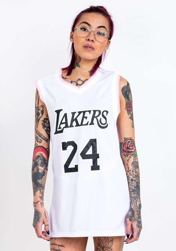 Lakers 24 Basketball Tank Top In White