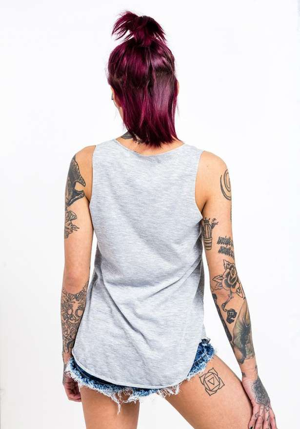 Bandidas Flagship Tank Top In Grey