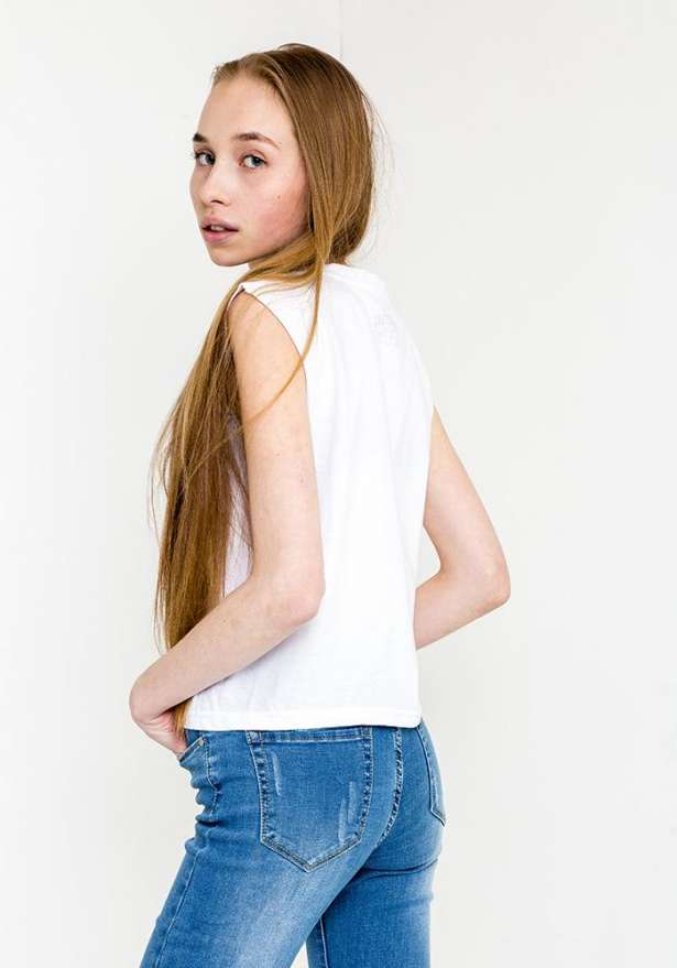Arctic Moto Crop Top In White