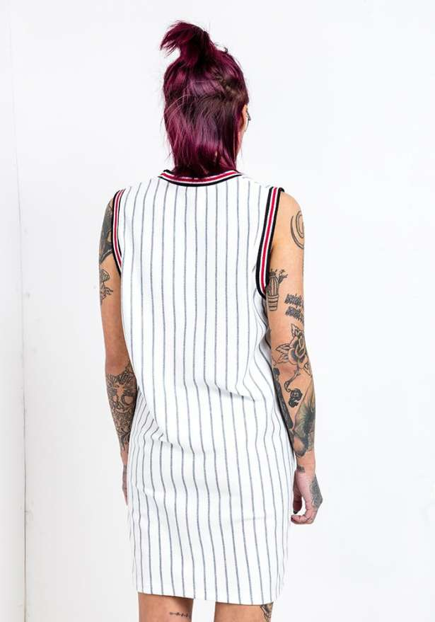 Bulls 23 Grey Stripe Vest Top