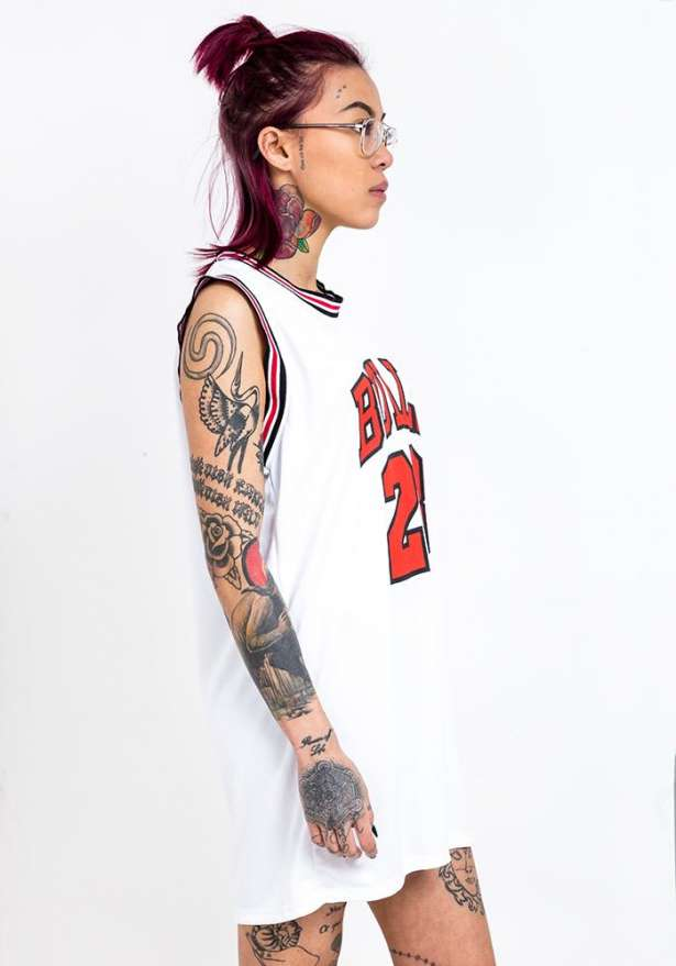 Bulls 23 Jersey Vest Top In White