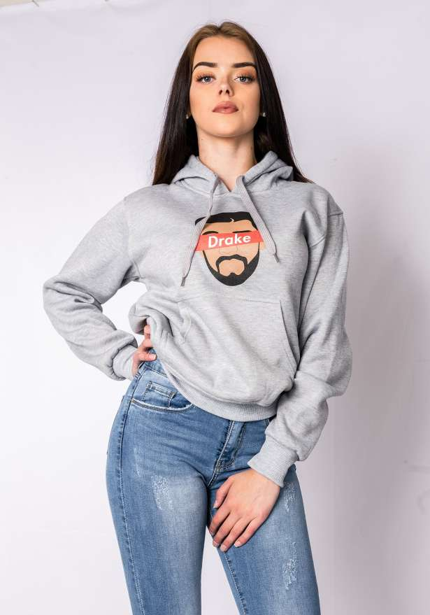 Drizzy Drake Hoodie In Grey