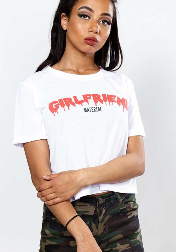 Girlfriend Material Cropped Tee