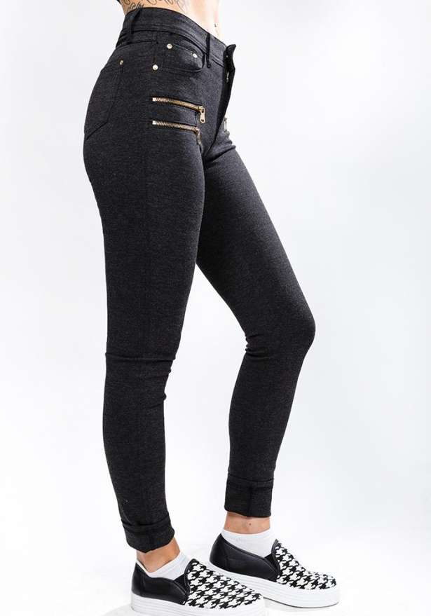 Perfect Fit Skinny Jeans In Dark Grey