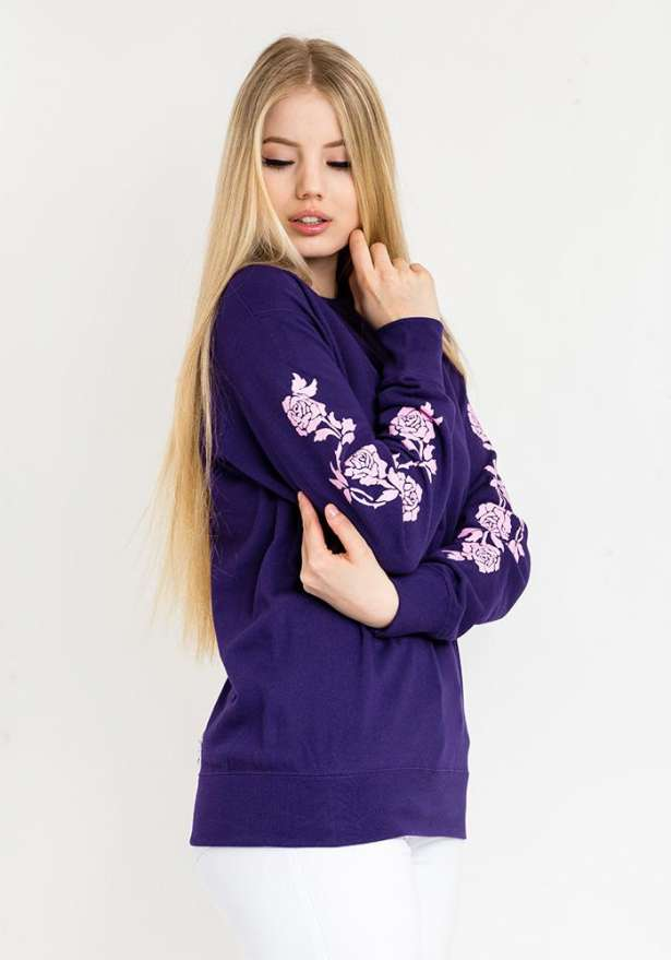 Lilac Classic Fit Sweater In Purple