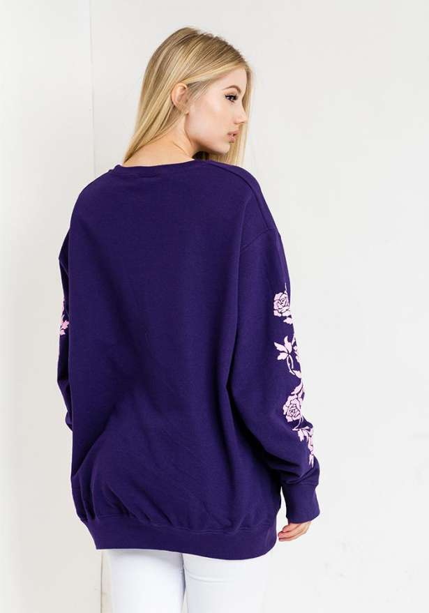 Lilac Oversize Sweater In Purple
