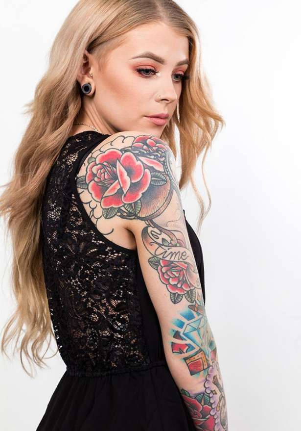 Half Lace Dress In Black