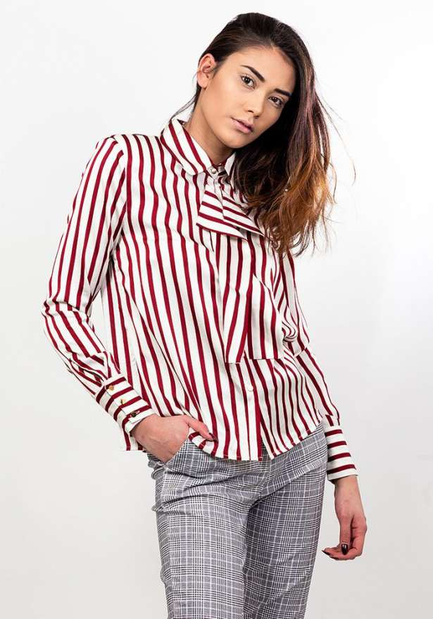 Stripe Frill Detail Shirt