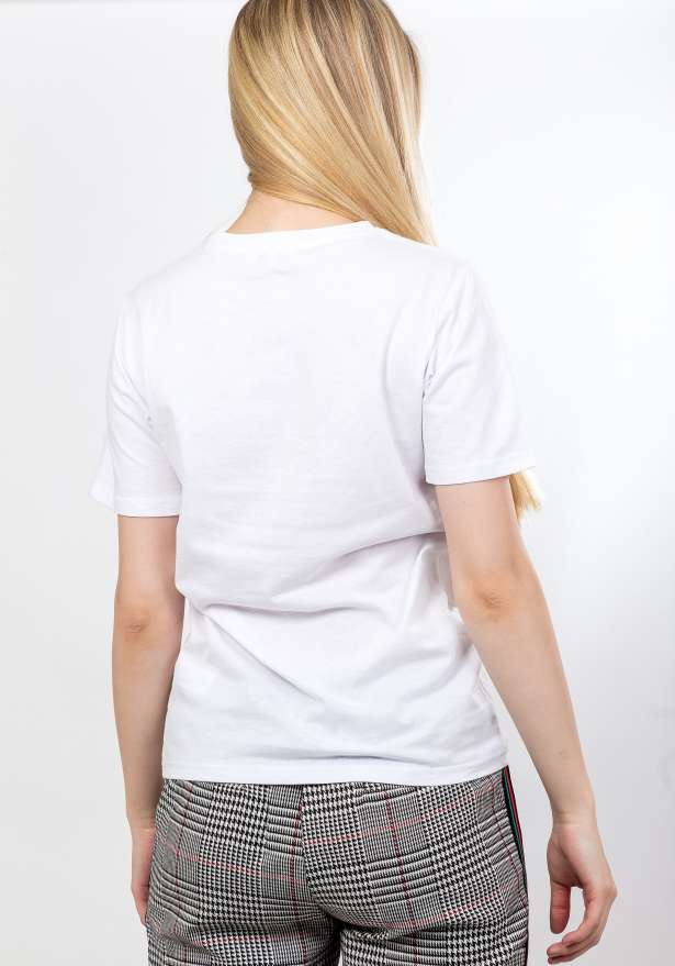 Champagne Dot T-Shirt In White