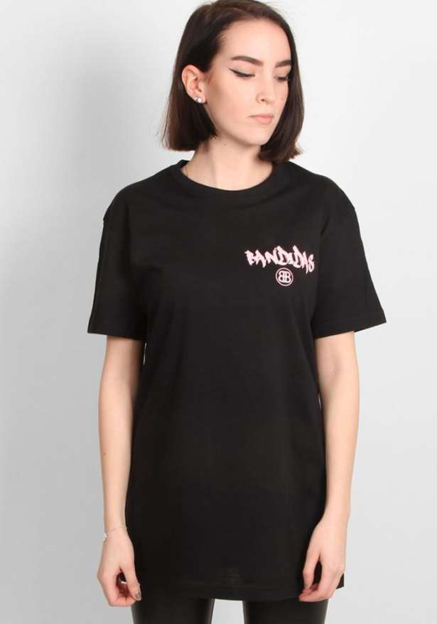Black Revvy Bandidas T-Shirt With Pink Text